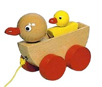 The Original Duck and Duckling push along toy