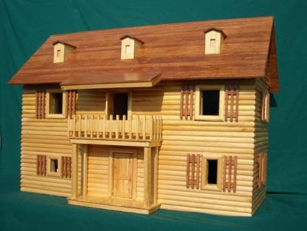 very large wooden toy house