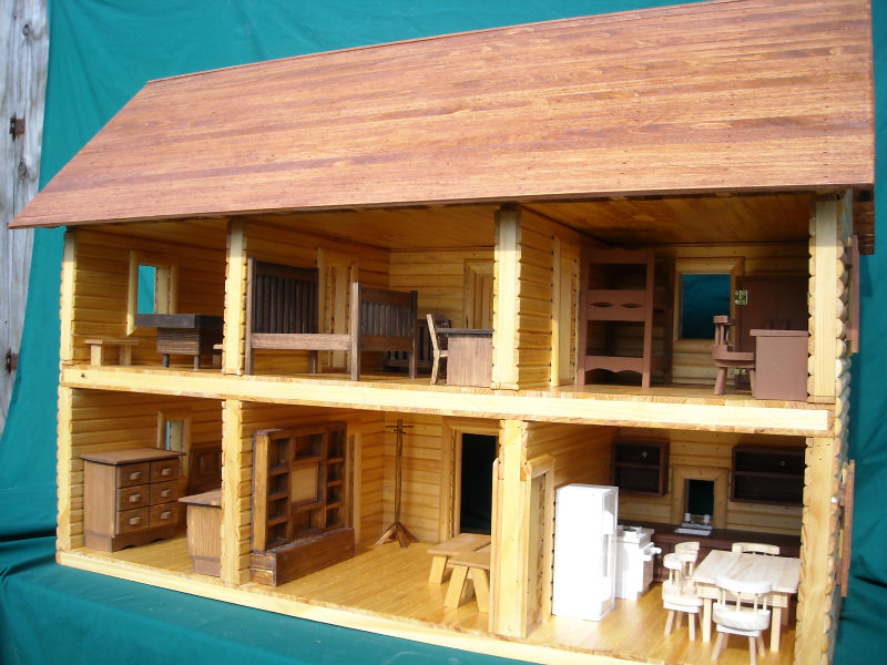 Le Wooden Toy Wooden Two Storey Cabin House Made Of