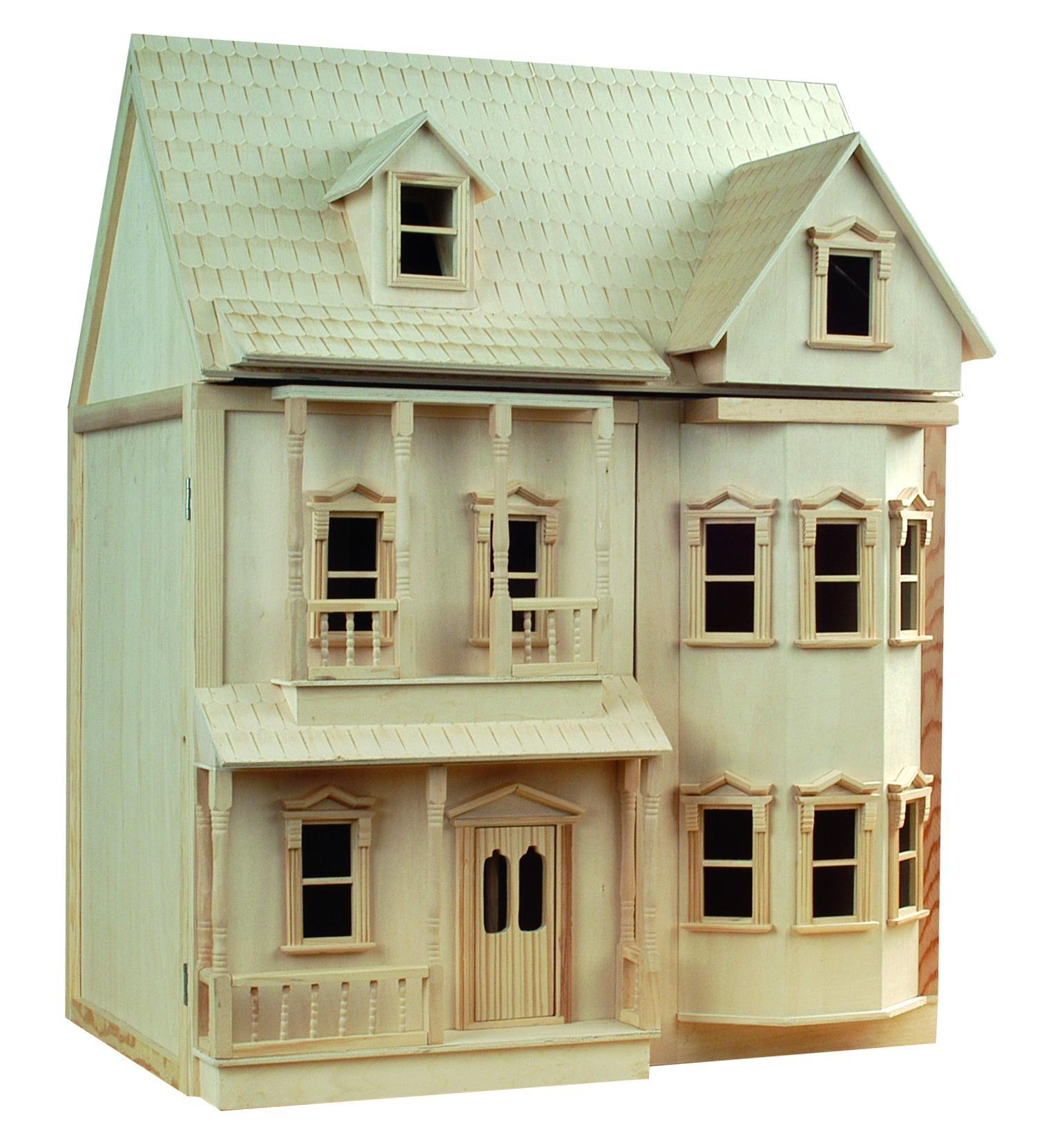 Le wooden toy buy victorian 1 12th scale wooden doll house for Accessory house
